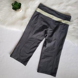 Lululemon Grey & Pastel Yellow Crop Yoga Pant